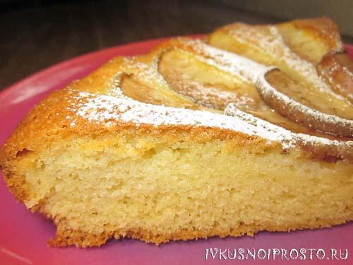 Нежный грушевый пирог