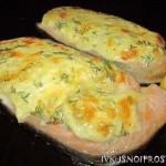 Семга в духовке с сыром