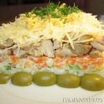 Салат из свинины с сыром