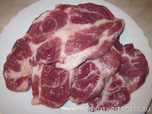 Свиная шейка в духовке1
