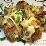 Свинина с грибами в духовке