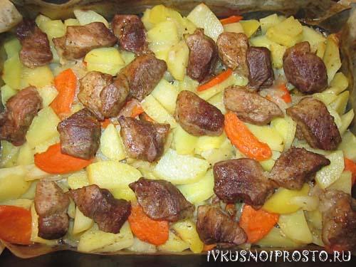 Картошка с мясом в духовке5