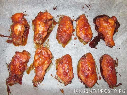 Медовые куриные крылышки5