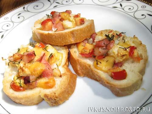 рецепт горячие бутерброды в духовке фото рецепт
