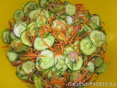 Салат из огурцов по-корейски3