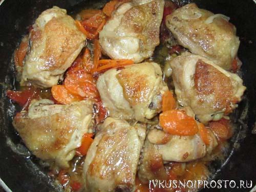 Куриные бедра на сковороде4