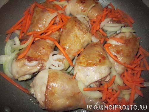 Куриные ножки на сковороде3