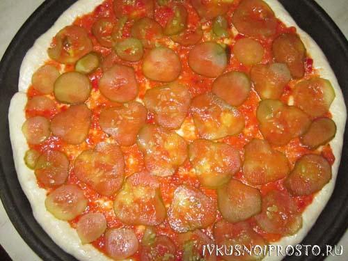 Пицца с курицей4
