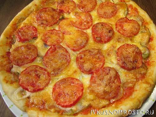 Пицца с курицей7