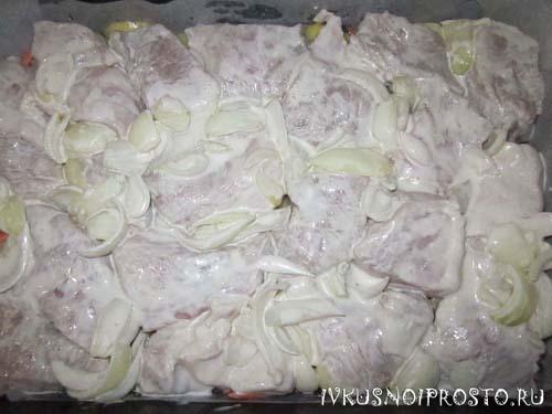Свинина с картошкой в духовке3