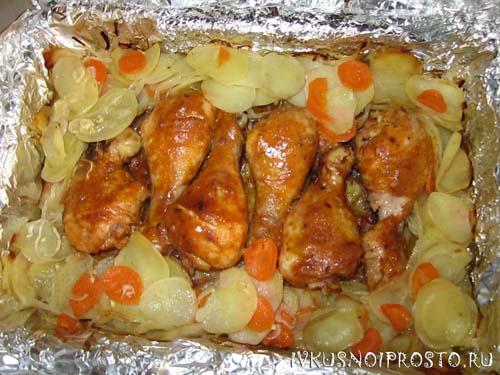 Куриные ножки с картошкой5