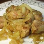 Свинина с луком на сковороде