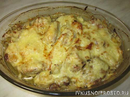 Свинина с сыром в духовке5