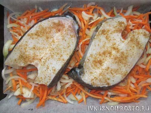 как приготовить зубатку стейк в духовке в фольге