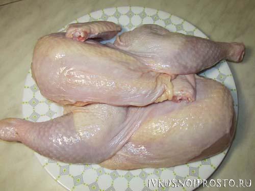 Цыпленок в духовке1