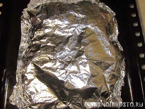 Курица в фольге - рецепт пошаговый с фото
