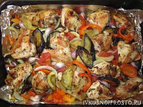 Овощное рагу с курицей4
