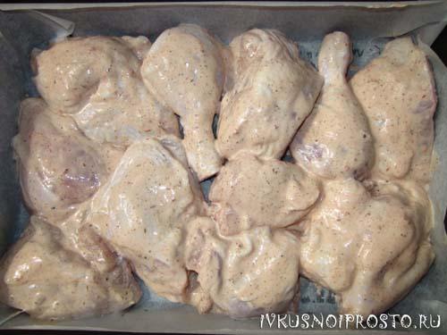 Курица в майонезе в духовке3