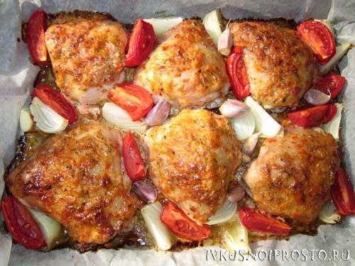 Куриные бедра в духовке6