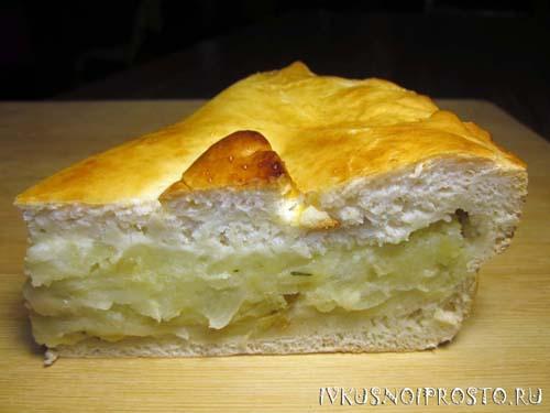 Пирог с картошкой в духовке