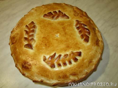 Пирог с картошкой в духовке5