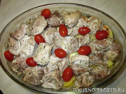Запеченная картошка с мясом4