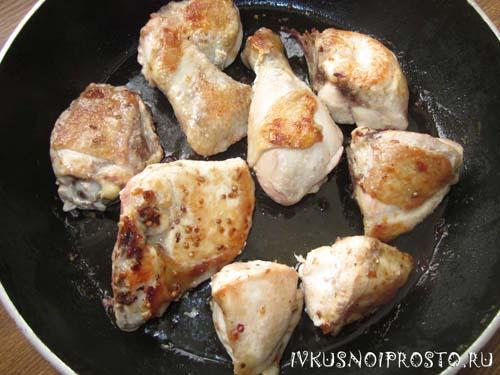 Курица с фасолью2