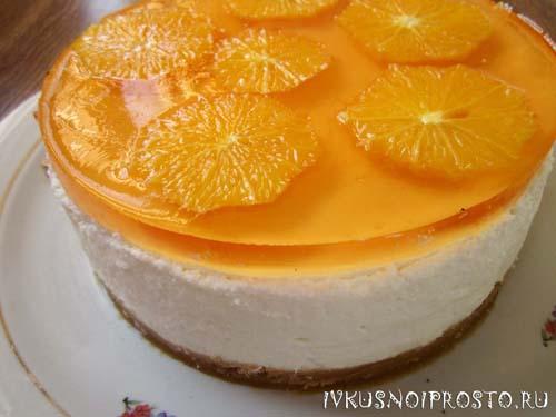 Творожный торт без выпечки7