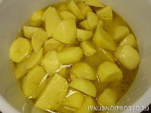 Тушеная картошка с курицей4
