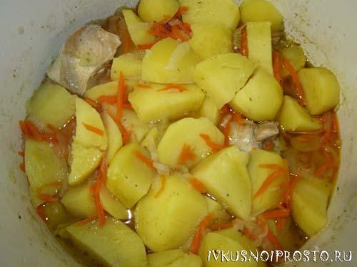 Тушеная картошка с курицей5