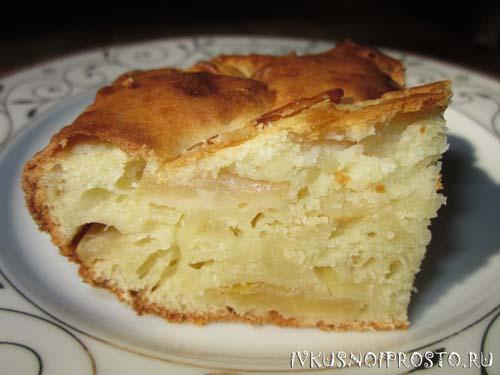 Пирог с яблоками в духовке