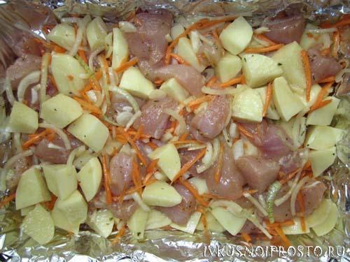 Куриные грудки с картошкой3