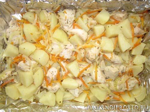 Куриные грудки с картошкой4