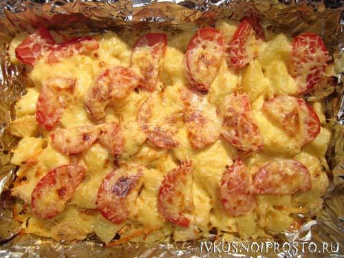 Куриные грудки с картошкой5