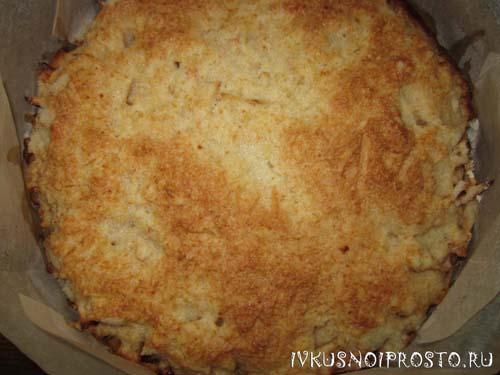 Насыпной пирог с яблоками4