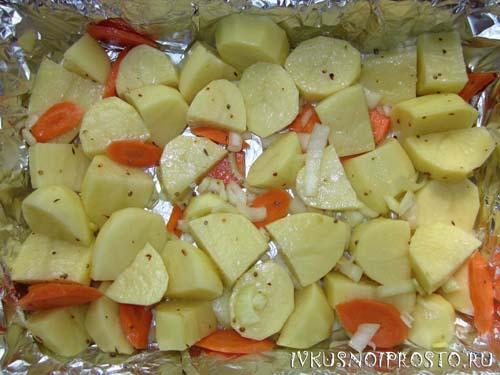 Утка с картошкой в духовке2