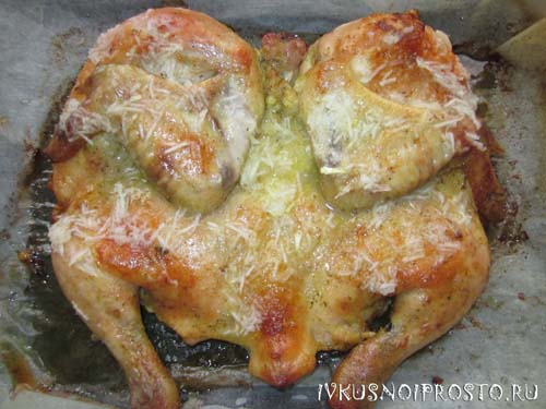Цыпленок табака в духовке5