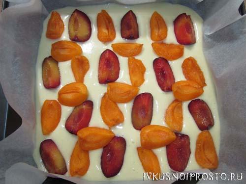 Заливной пирог с ягодами5