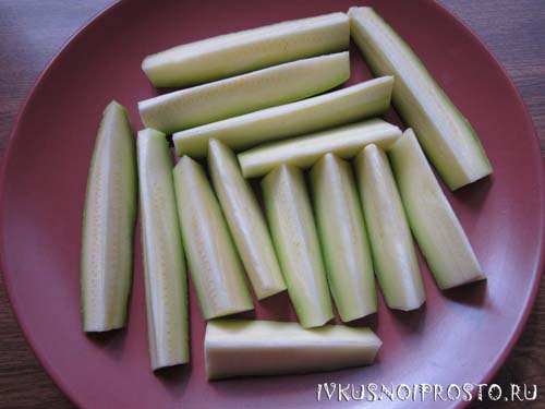Ломтики кабачков в духовке1