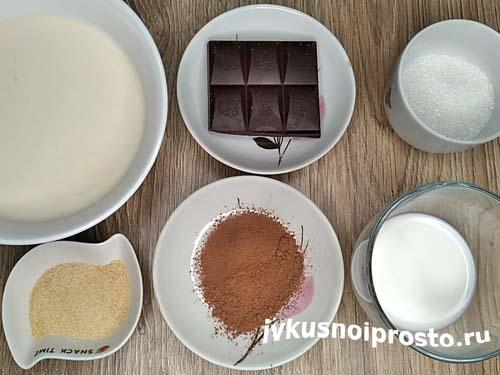 Десерт из ряженки с какао1
