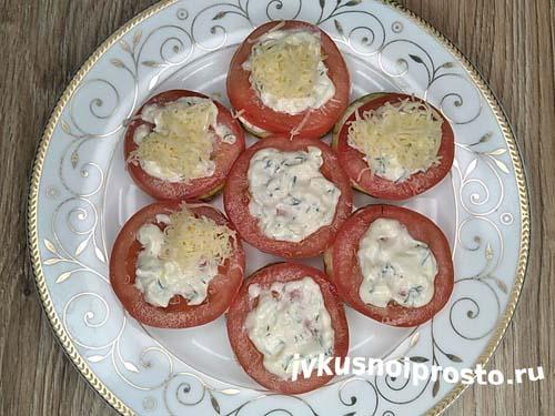 Кабачки с помидорами и чесноком12