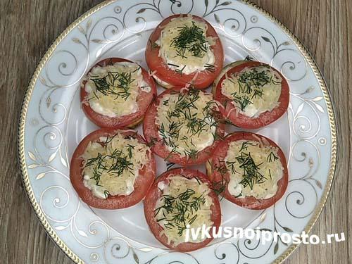Кабачки с помидорами и чесноком13