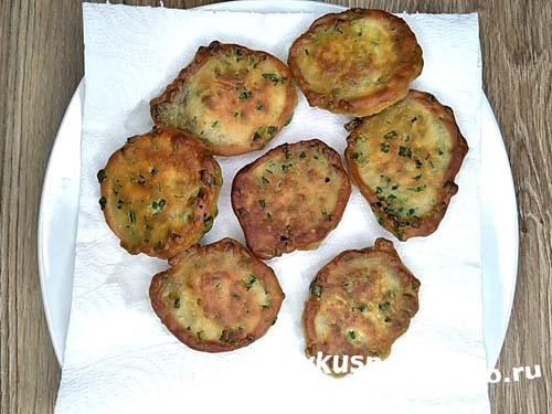 Оладьи с зеленым луком12