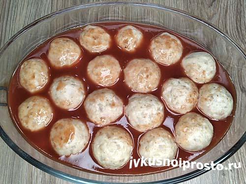 Фрикадельки в томатном соусе8