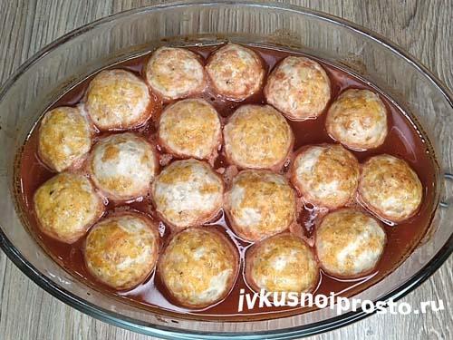 Фрикадельки в томатном соусе9